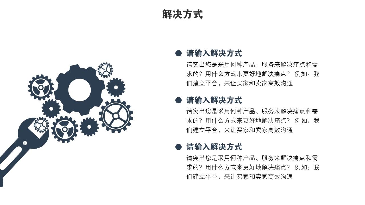 企業服務電影傳媒融資高端科技完整商業計劃書PPT模版-解決方式